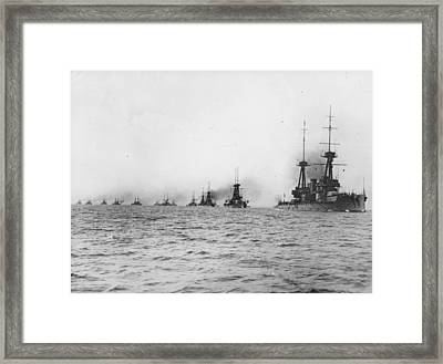 Naval Review Framed Print by Hulton Archive