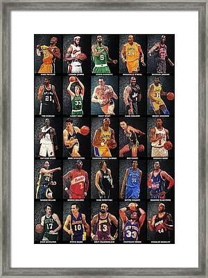 Nba Legends Framed Print