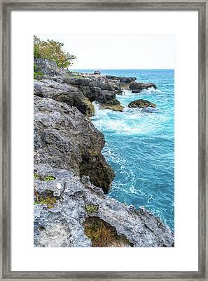 Negril Jamaica Cliffs Framed Print