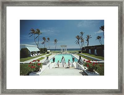 Neo-classical Pool Framed Print