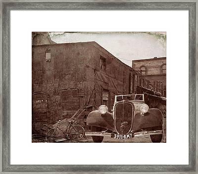 New 1936 Citroen Old Neighborhood Framed Print