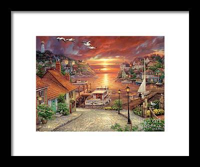 Harbor Framed Prints