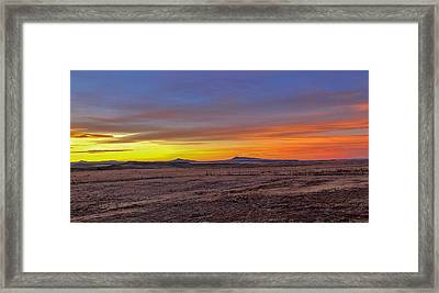 Framed Print featuring the photograph New Mexico Sunrise by Rand