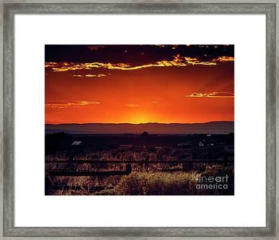 New Mexico Sunset Framed Print