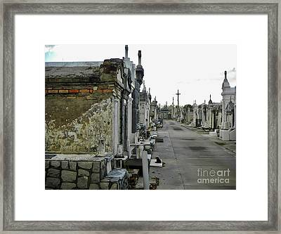 Framed Print featuring the photograph New Orleans Cemetery by Rosanne Licciardi