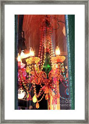 New Orleans Chandelier Colors Framed Print
