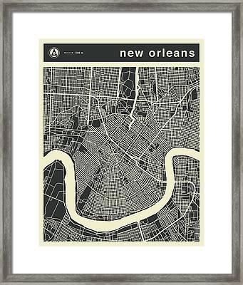 New Orleans Map 3 Framed Print