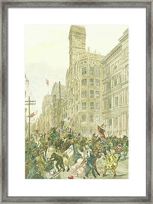New Years Mummers On Chestnut Street Framed Print