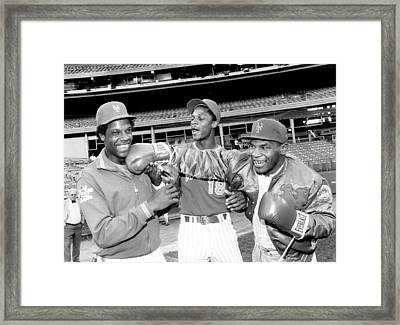New York Mets Dwight Gooden Laughs Off Framed Print