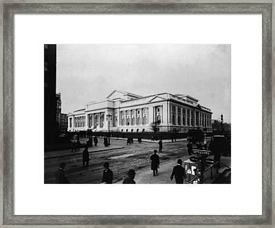 New York Public Library Main Branch Framed Print by Fpg