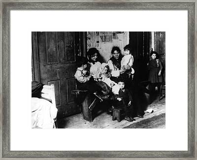 New York Slum Framed Print by General Photographic Agency
