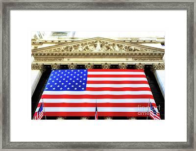 New York Stock Exchange Glow Framed Print