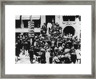 New York Stock Exchange Framed Print by Hulton Archive