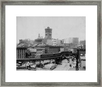 New York Train Framed Print by Hulton Archive