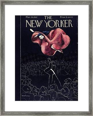 New Yorker March 29th, 1947 Framed Print by Christina Malman