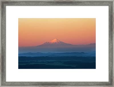 New Zealand, Mount Taranaki Framed Print by Frans Lemmens