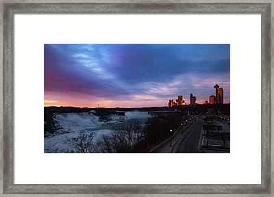 Niagara Falls At Sunrise Framed Print