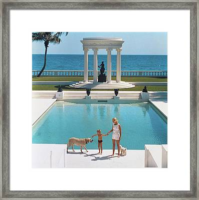 Nice Pool Framed Print