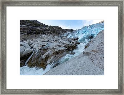 Framed Print featuring the photograph Nigardsbreen, Norway by Andreas Levi