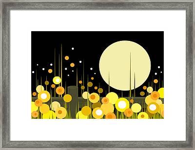 Night Blooming Flowers Framed Print