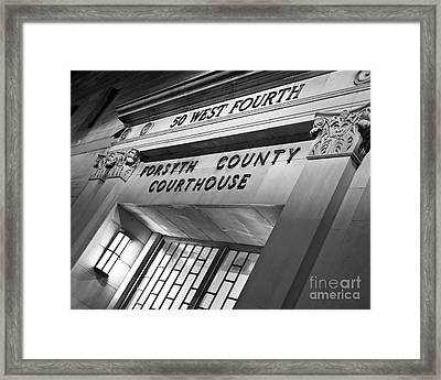 Framed Print featuring the photograph Night Court by Patrick M Lynch