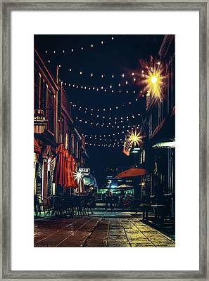 Night Dining In The City Framed Print