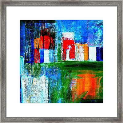 Night In The City N Y C Framed Print