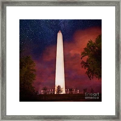 Night Monument Framed Print