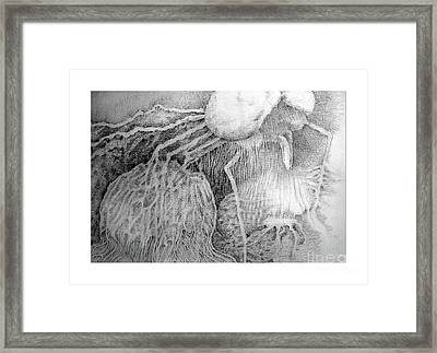 Framed Print featuring the drawing Nightmare by Rosanne Licciardi