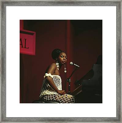 Nina Simone Framed Print by David Redfern