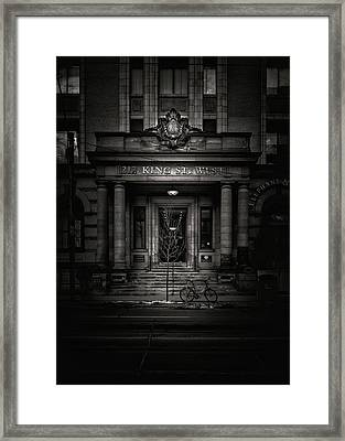 Framed Print featuring the photograph No 212 King Street West Toronto Canada by Brian Carson