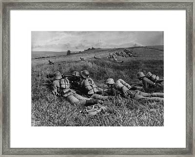 No Trench Framed Print by General Photographic Agency