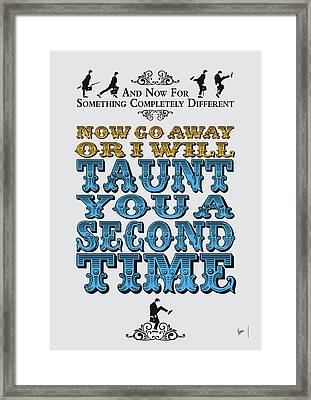 No05 My Silly Quote Poster Framed Print