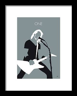 James Hetfield Framed Prints