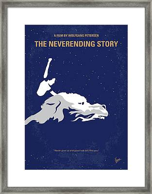 No975 My The Neverending Story Minimal Movie Poster Framed Print