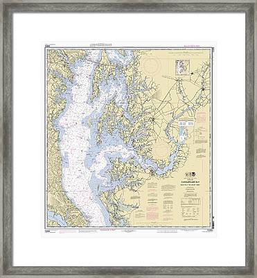 Chesapeake Bay, Cove Point To Sandy Point Nautical Chart Framed Print