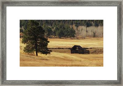 Framed Print featuring the photograph Noble Meadow Barn by Lukas Miller