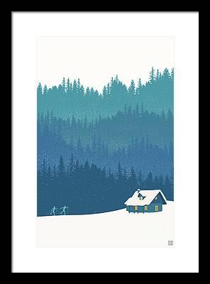 Woods Framed Prints