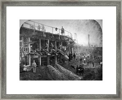 Northern Outfall Sewer Framed Print by Otto Herschan Collection