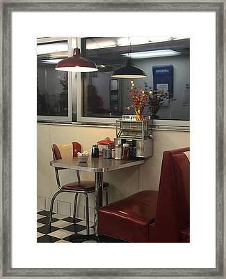 Framed Print featuring the photograph Nostalgic Diner by Expressive Landscapes Fine Art Photography by Thom