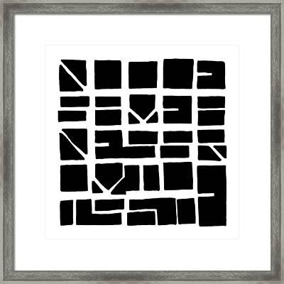 Nucle... Black Framed Print