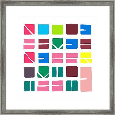 Nucle... Colour Framed Print