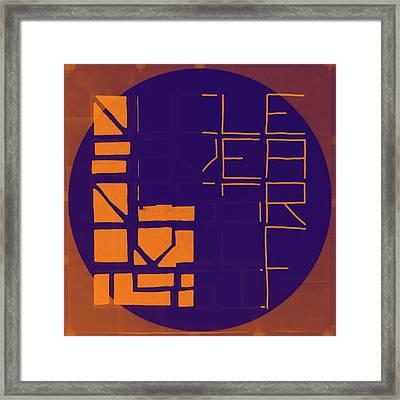 One - Map Framed Print