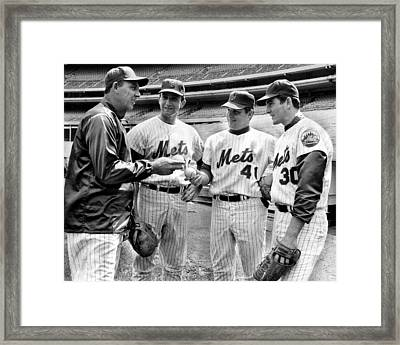 N.y. Mets Manager Gil Hodges Sports A Framed Print