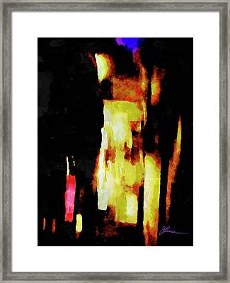 Framed Print featuring the painting Ny Verve 2 by Joan Reese