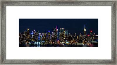 Framed Print featuring the photograph Nyc At Night by Francisco Gomez