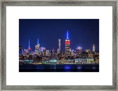 Framed Print featuring the photograph Nyc At The Blue Hour by Francisco Gomez