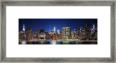 Framed Print featuring the photograph Nyc Nightshine by Theodore Jones
