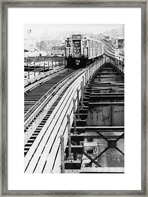 Nyc Subway Framed Print by Hulton Archive