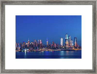 Framed Print featuring the photograph Nyc The Blue Hour by Francisco Gomez